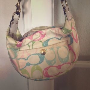 Coach hobo rainbow bag